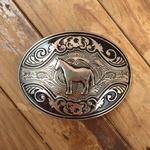 Fivela Horse Metal