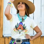 T-Shirt Feminina Power Country Off White