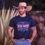 Camiseta Masculina Power Country Azul Roping