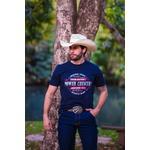 Camiseta Masculina Power Country Azul