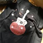 T-Shirt Feminina Power Country Violão Preta