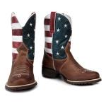 Bota Texana Bico Redondo Estados Unidos em Couro