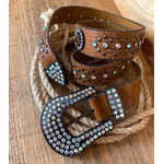 Cinto Country Furta-Cor Croco Caramelo 110 cm