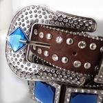 Cinto Country Pedrarias Azul 110 cm