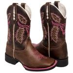 Bota Texana Pink em Couro