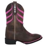 Bota Texana Listras Pink em Couro