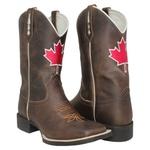Bota Texana Masculina Canadá em Couro