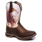 Bota Texana Masculina Rodeio em Couro Solado Jump