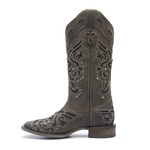 Bota Texana Feminina Roper Dallas Brown com Glitter Preto