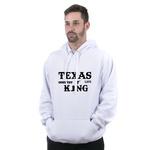 Conjunto Moletom TexasKing Branco Preto