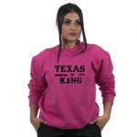Moletom Flanelado TexasKing Country Life Rosa Sem Capuz