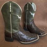 Bota Texana Réplica de Avestruz em Couro - Último Par 40