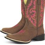 Bota Texana Feminina Rustic em Couro