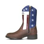 Bota Texana Infantil Bandeira em Couro