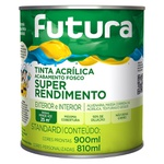 TINTA ACRÍLICA FOSCO BRANCO NEVE SUPER RENDIMENTO 0,9L FUTURA