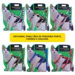 Conjunto guia peitoral para gatos regulável 10mm