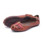 Sandália Sapatilha Feminina Top Franca Shoes Marrom