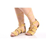 Sandália Feminina Gladiadora Top Franca Shoes Amarela