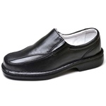 Sapato Social Masculino de Conforto Anatômico Ortopédico e Super Flexível Preto