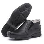Sapato Social Conforto Anatomico Tamanhos Grandes 45 46 Preto