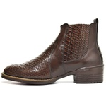 Kit Bota Texana Country Masculina Escamada Cafe + Cinto