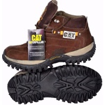 Kit Bota Coturno Caterpillar Cafe + Carteira
