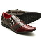 Sapato Social Masculino Top Franca Shoes Verniz Cafe Vinho