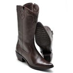 BOTA FEMININA COUNTRY BICO FINO TOP FRANCA SHOES CAFE
