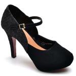 Sapato Feminino Salto Alto Peep Toe