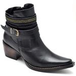 Bota Country Feminina Bico Fino Top Franca Shoes Preto