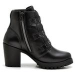 Bota Coturno Feminino Top Franca Shoes Motociclista Confort Preto