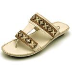 Sandalia Chinelo Feminino Top Franca Shoes Confort Off White