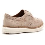 Sapato Social Feminino Oxford Camurça Areia
