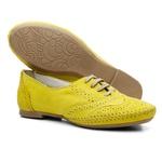 Sapato Social Feminino Top Franca Shoes Oxford Confort Amarelo
