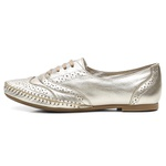 Sapato Social Feminino Top Franca Shoes Oxford Confort Ouro Light