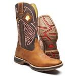 Bota Country Top Franca Shoes em Couro Latego Mostarda