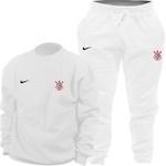 Kit Blusa Moletom Gola Careca Nike Corinthians + Calça