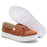 Tenis Sapatenis Feminino Top Franca Shoes Slip On Caramelo