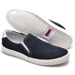 Sapatênis Masculino Slip On Top Franca Shoes Marinho