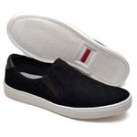 Sapatênis Masculino Slip On Top Franca Shoes Preto