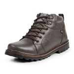 Bota Coturno Casual Masculino Top Franca Shoes Marrom