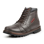 Bota Coturno Casual Masculino Top Franca Shoes Marrom