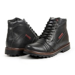 Bota Coturno Casual Masculino Top Franca Shoes Preto