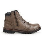 Bota Coturno Casual Masculino Top Franca Shoes Bege