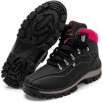 Bota Coturno Adventure Top Franca Shoes Preto Rosa