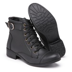Bota Feminina Top Franca Shoes Cano Médio Preto