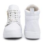 Botinha Feminina Top Franca Shoes Cano Médio Branca