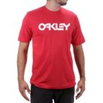 Camiseta Algodão Oakley Vermelho