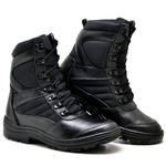 Bota Coturno Militar Motociclista Top Franca Shoes Preto