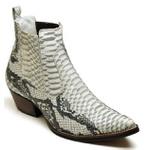 Bota Country Masculina Bico Fino Top Franca Shoes Gelo Preto